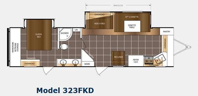 Floorplan - 2015 Prime Time RV LaCrosse 323FKD