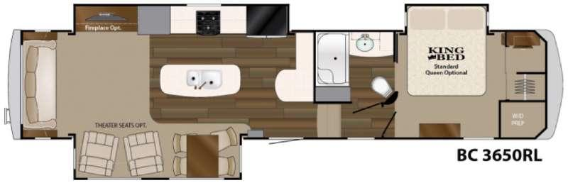 Floorplan - 2016 Heartland Big Country 3650 RL