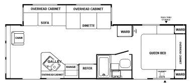 Floorplan - 2004 Adventure Manufacturing Timberlodge 26 RLS