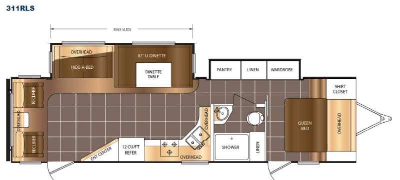 LaCrosse 311RLS Floorplan Image
