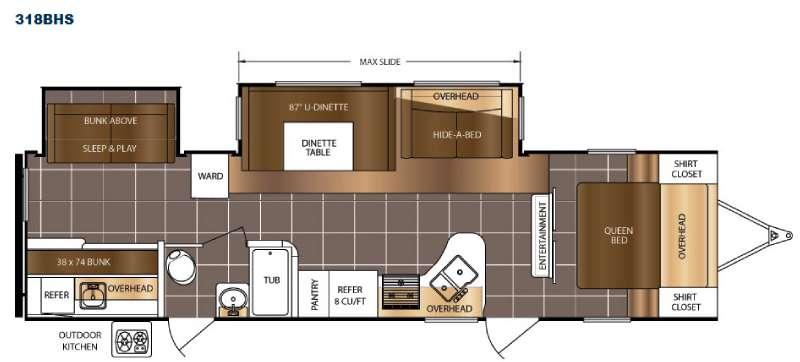 Floorplan - 2016 Prime Time RV LaCrosse 318BHS