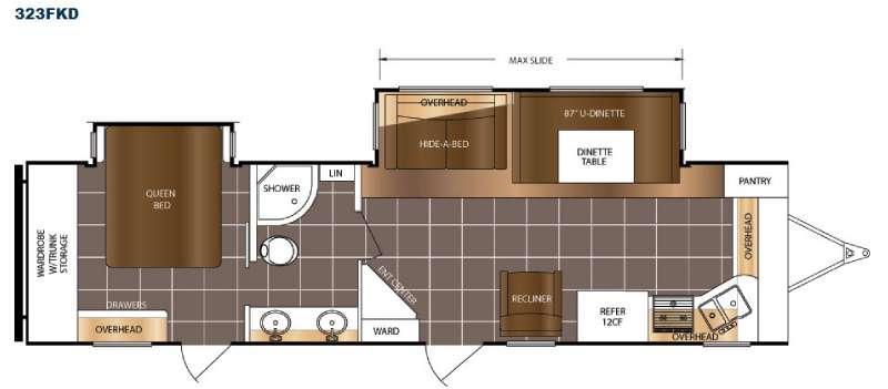 LaCrosse 323FKD Floorplan Image