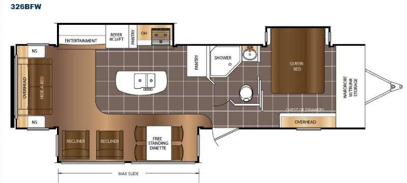 Floorplan - 2016 Prime Time RV LaCrosse 326BFW