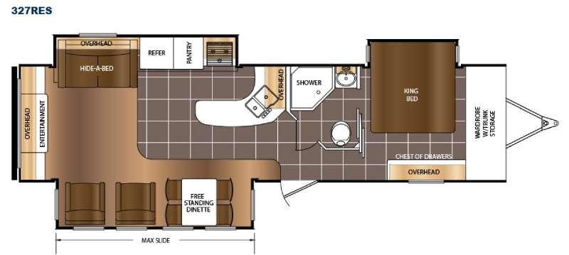 Floorplan - 2016 Prime Time RV LaCrosse 327RES
