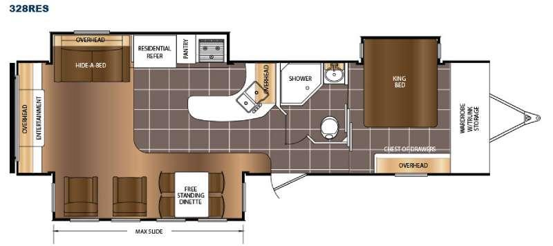 Floorplan - 2016 Prime Time RV LaCrosse 328RES
