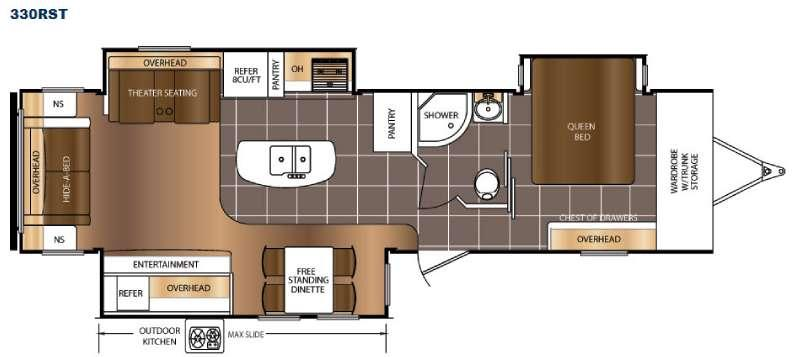 Floorplan - 2016 Prime Time RV LaCrosse 330RST