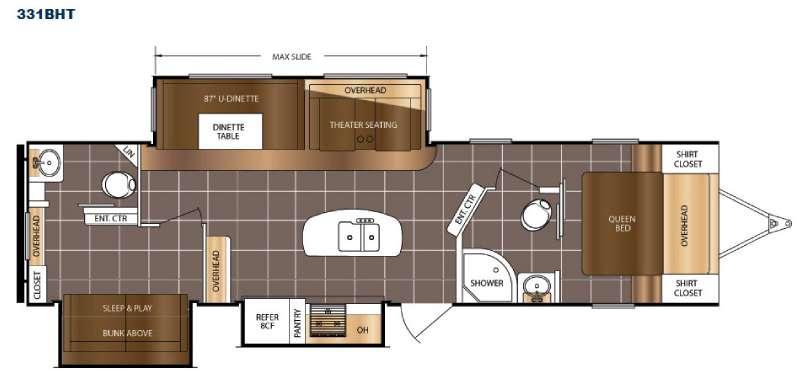 LaCrosse 331BHT Floorplan Image