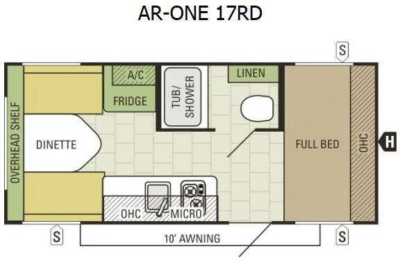Floorplan - 2016 Starcraft AR-ONE 17RD
