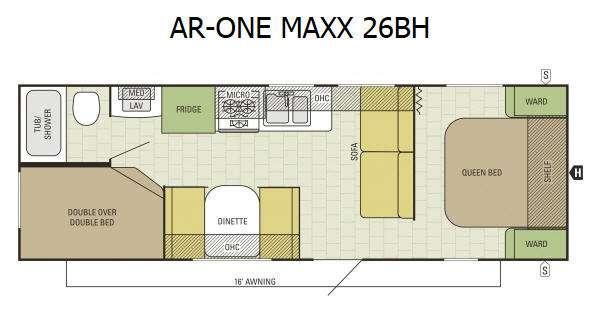 Floorplan - 2016 Starcraft AR-ONE MAXX 26BH
