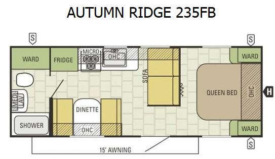 Floorplan - 2016 Starcraft Autumn Ridge 235FB