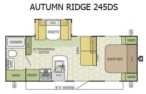 Autumn Ridge 245DS Floorplan Image