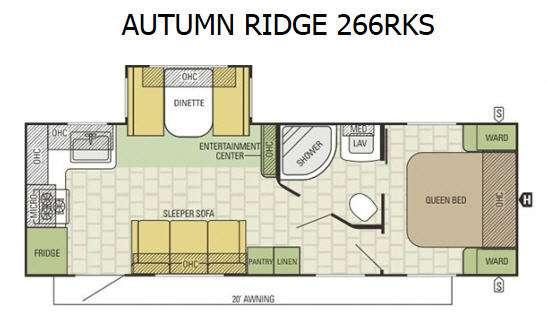 Autumn Ridge 266RKS Floorplan Image