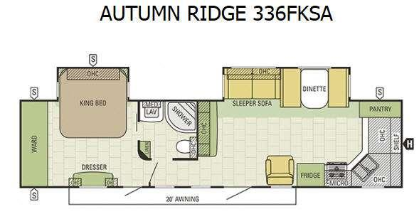 Autumn Ridge 336FKSA Floorplan Image