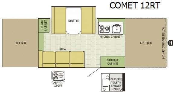 Comet 12RT Floorplan Image