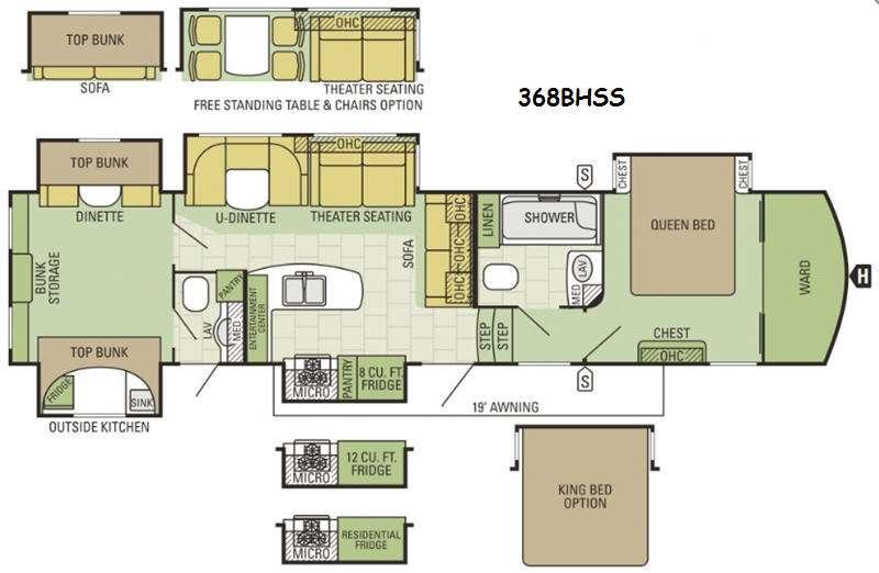 Floorplan - 2016 Starcraft Solstice 368BHSS