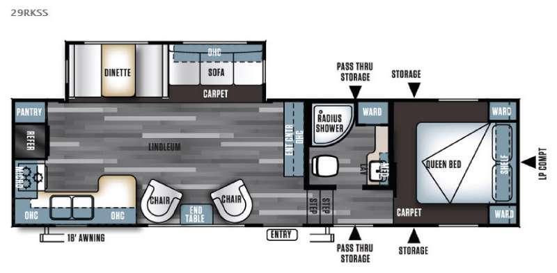 Floorplan - 2016 Forest River RV Salem 29RKSS