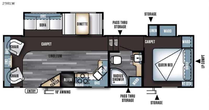 Floorplan - 2016 Forest River RV Salem 29RLW