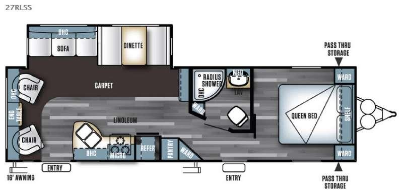 Floorplan - 2016 Forest River RV Salem 27RLSS