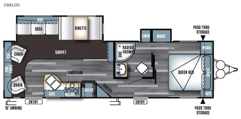 Floorplan - 2016 Forest River RV Salem 28RLDS