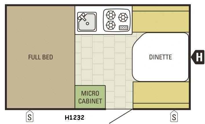 Comet Hardside H1232 Floorplan Image