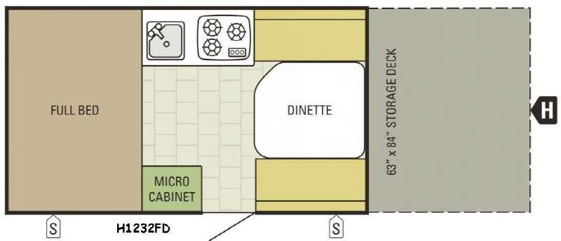 Comet Hardside H1232FD Floorplan Image