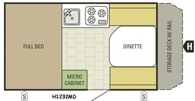 Floorplan - 2016 Starcraft Comet Hardside H1232MD