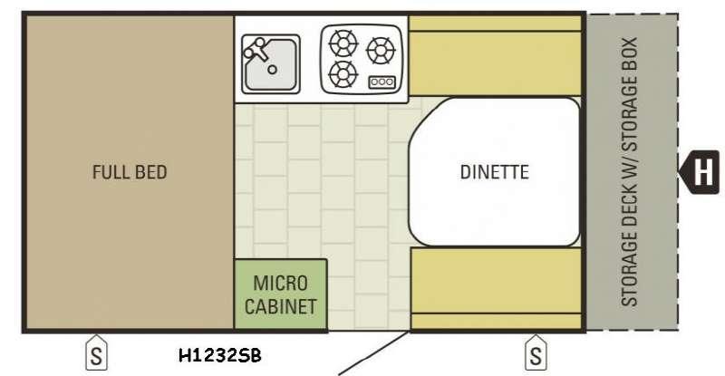 Comet Hardside H1232SB Floorplan Image