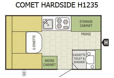 Comet Hardside H1235 Floorplan Image
