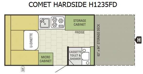Comet Hardside H1235FD Floorplan Image
