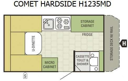 Comet Hardside H1235MD Floorplan Image