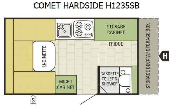 Comet Hardside H1235SB Floorplan Image