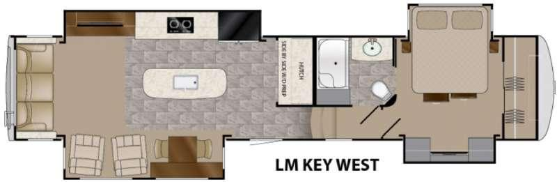 Floorplan - 2016 Heartland Landmark 365 Key West