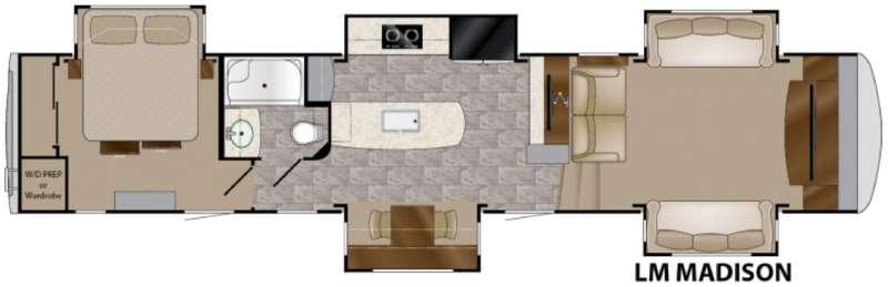 Floorplan - 2016 Heartland Landmark 365 Madison
