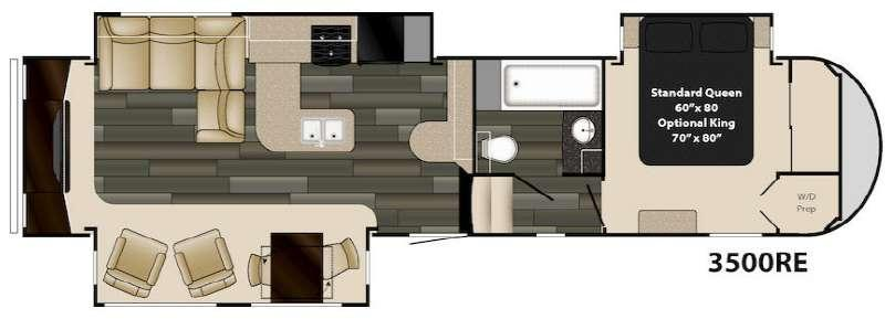 Floorplan - 2016 Heartland Gateway 3500 RE