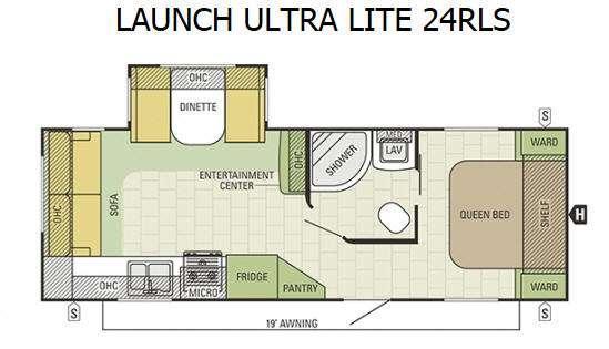 Floorplan - 2016 Starcraft Launch Ultra Lite 24RLS