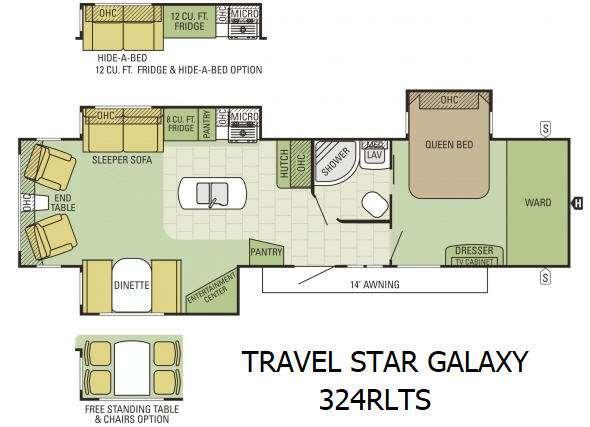 Floorplan - 2016 Starcraft Travel Star Galaxy 324RLTS