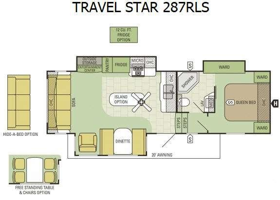 Floorplan - 2016 Starcraft Travel Star 287RLS