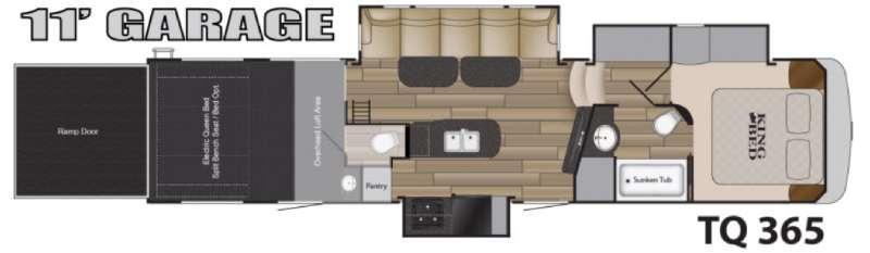 Floorplan - 2016 Heartland Torque TQ 365