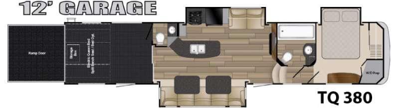 Floorplan - 2016 Heartland Torque TQ 380
