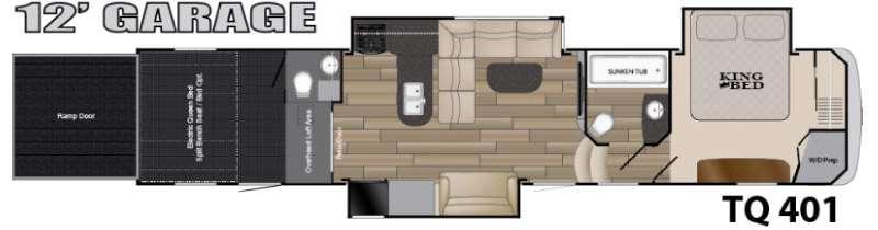 Floorplan - 2016 Heartland Torque TQ 401