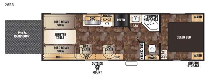 Floorplan - 2016 Forest River RV Cherokee Grey Wolf 26RR