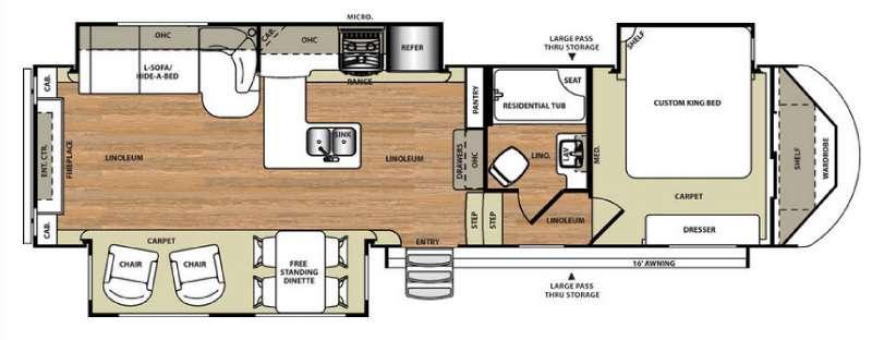 Floorplan - 2016 Forest River RV Wildwood Heritage Glen 327RE