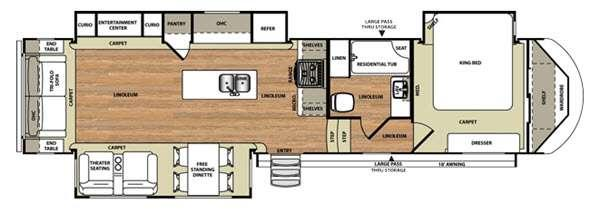Floorplan - 2016 Forest River RV Wildwood Heritage Glen 337BAR