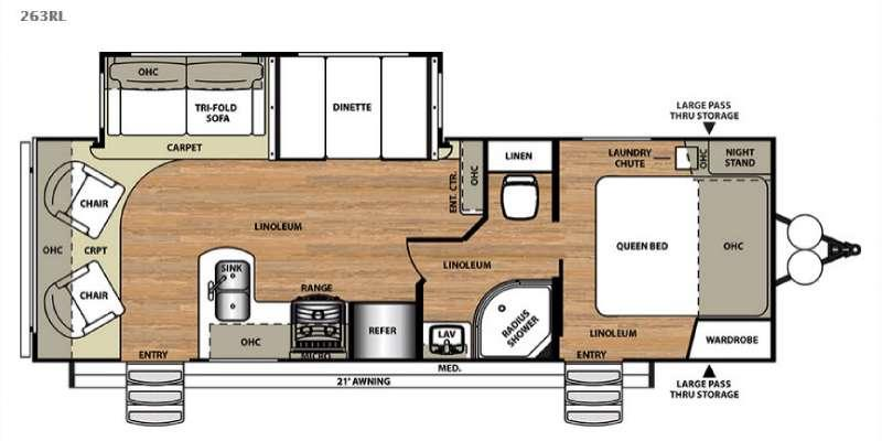 Floorplan - 2016 Forest River RV Wildwood Heritage Glen 263RL