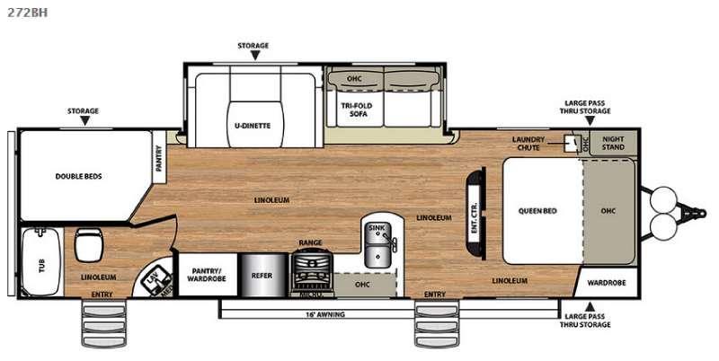 Floorplan - 2016 Forest River RV Wildwood Heritage Glen 272BH
