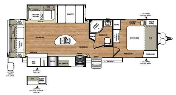 Floorplan - 2016 Forest River RV Wildwood Heritage Glen 272RLIS