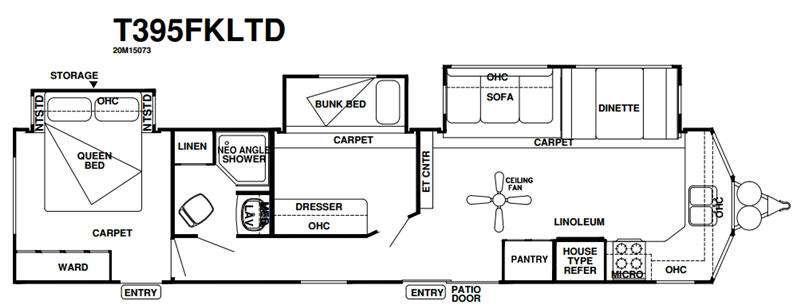 Wildwood DLX 395FKLTD Floorplan Image