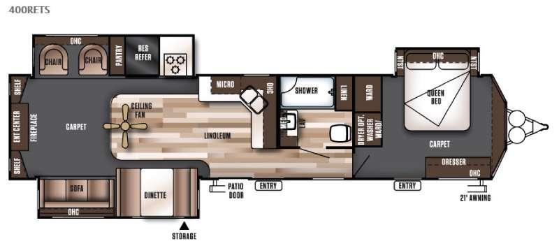 Wildwood DLX 400RETS Floorplan Image