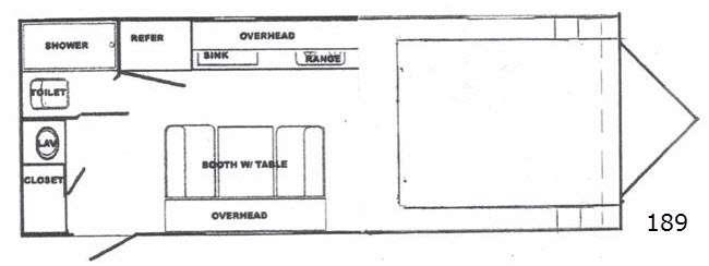 Floorplan - 2016 Riverside RV White Water 189 Retro