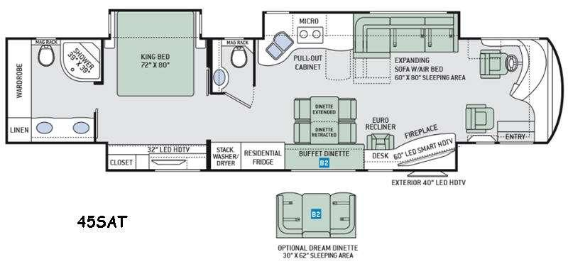Tuscany 45AT Floorplan Image